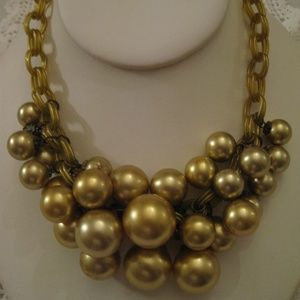 Lucite Chain Pearl Necklace 1940's